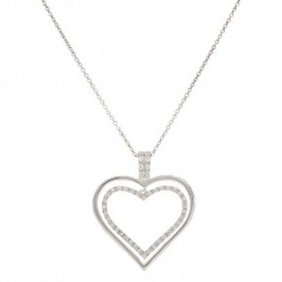 Nested Heart Necklace