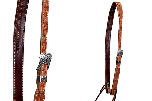 Cactus Slit Ear Headstall - Floral Tooled