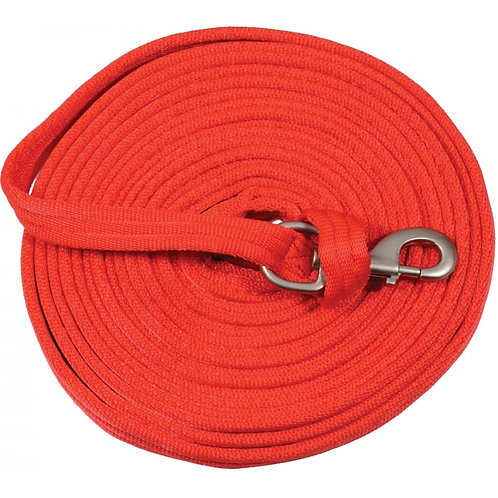 Cushion Web Lunge Line 25' - Red