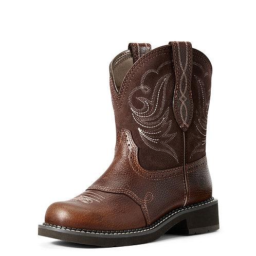 Ladies Ariat Fatbaby Heritage Boots - Brownie