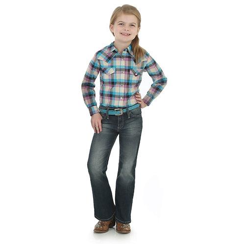 Wrangler Rock 47 Purple & Turquoise Western Shirt
