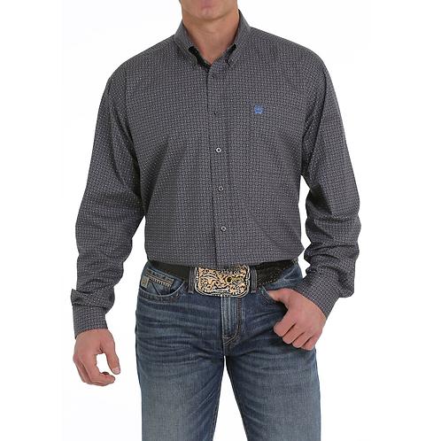 Cinch Grey & Blue Netted Western Shirt