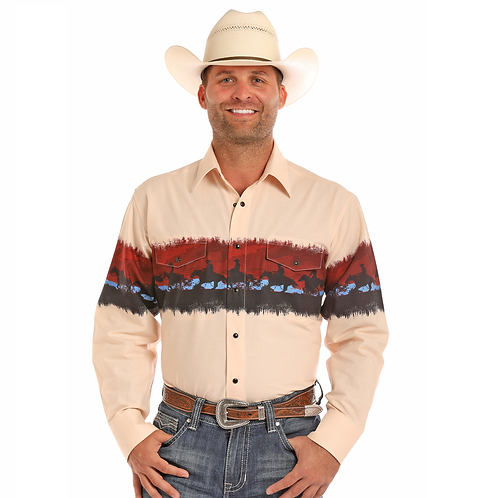 Men's Panhandle Trail Ride Western Shirt 30S6546