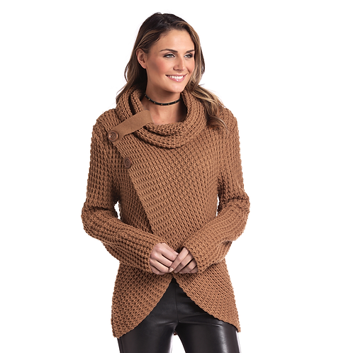 Panhandle Copper Knit Cowl Sweater