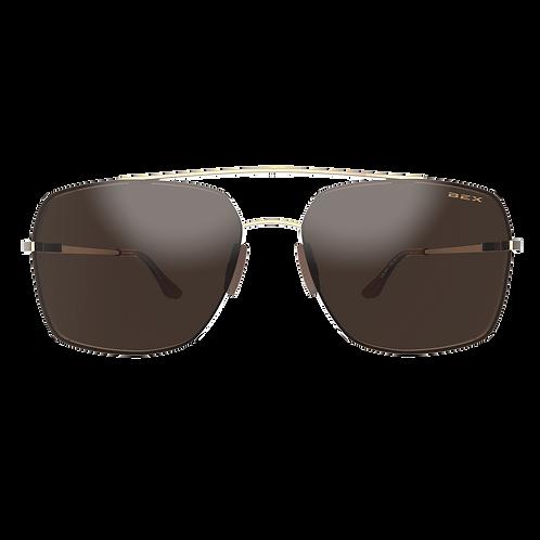 BEX Pilot Sunglasses - Gold Frame, Brown Lens