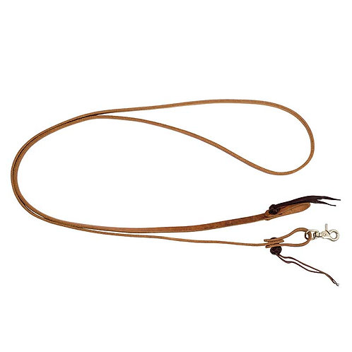 1/2″ x 8′ Cowboy Knot Leather Roping Reins with 2 Strings