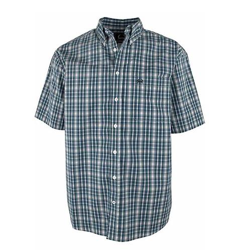 Men's Cinch Blue/White/Grey Short Sleeve Western Shirt