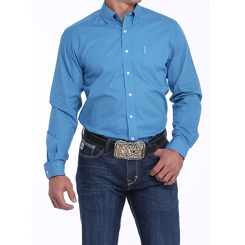 Cinch True Blue Polka Dot Western Shirt
