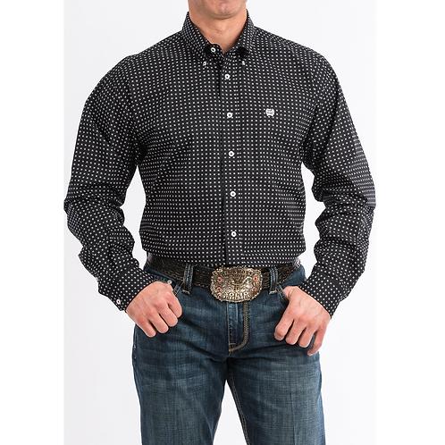 Cinch Black Four Square Western Shirt