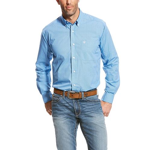 Men's Blue Ariat Samuel Fitted Shirt