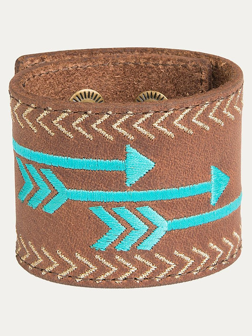 Follow Your Arrow  Turquoise Leather Bracelet
