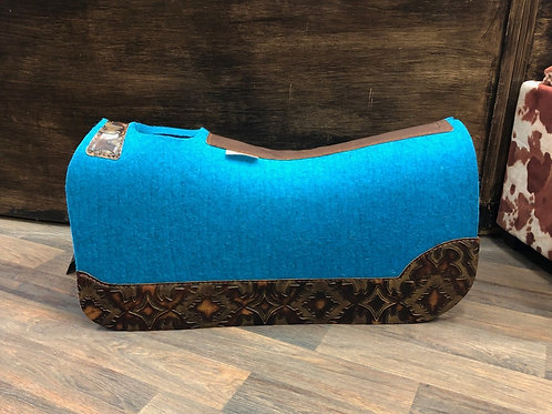"5 Star 3/4"" Turquoise BarrelPad 30""x28"" - Custom Full Chocolate Laredo"
