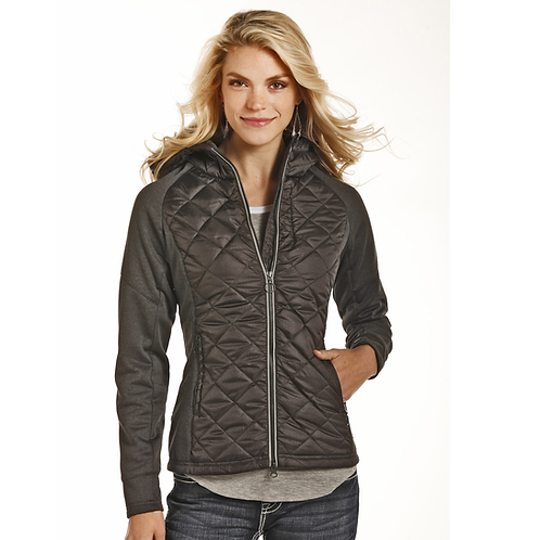 Panhandle Charcoal with Reflective Zipper Puffer Jacket