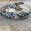 Thumbnail: Kid's Zebra Hair On Scalloped Bling Belt
