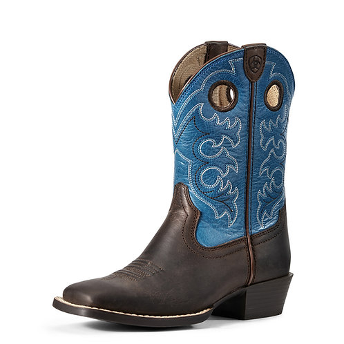 Ariat Youth Crossfire Toffee Blue Boots