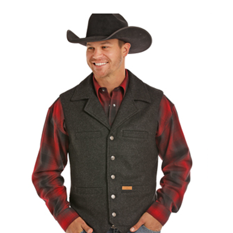 Powder River Outfitters Heather Black Wool Vest