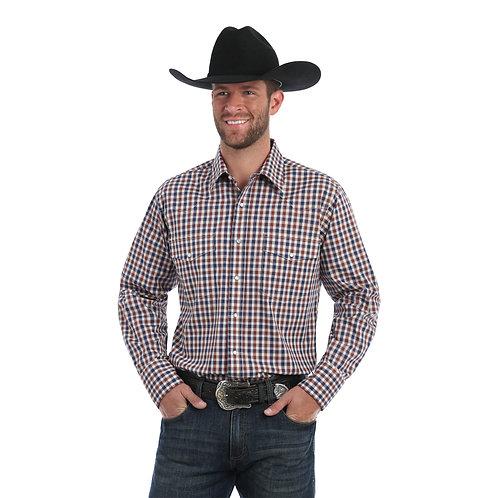 Wrangler Navy & Beige Western Shirt