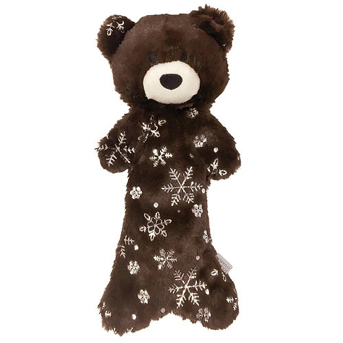 FouFIT - Metallic Frost Holiday Bear Dog Toy