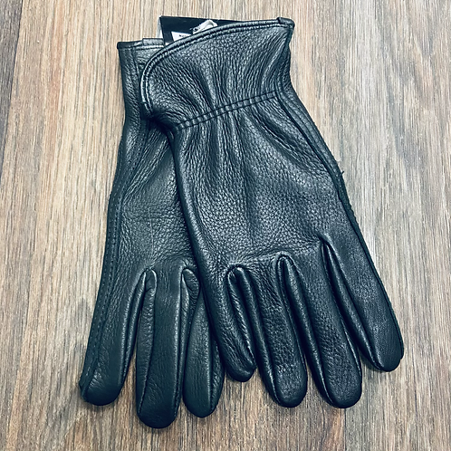 Watson - Ladies Black Deerskin Gloves Unlined