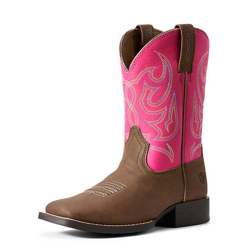 Ariat Youth Champ Brahma Boots - Dragon Fruit