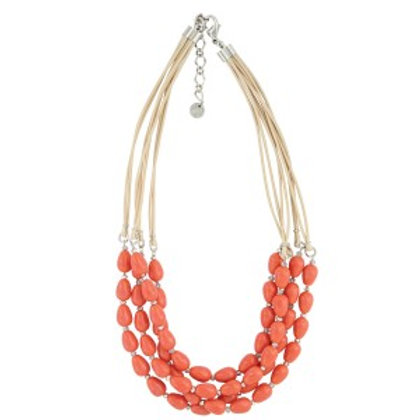Montana Attitude Jewelry Orange Bead Multi Strand Necklace