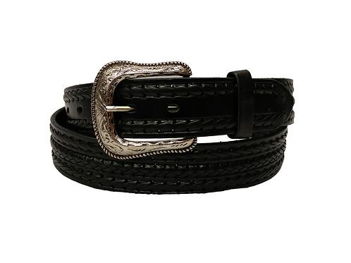 OK Corral Black Laced Extra Flex Belt