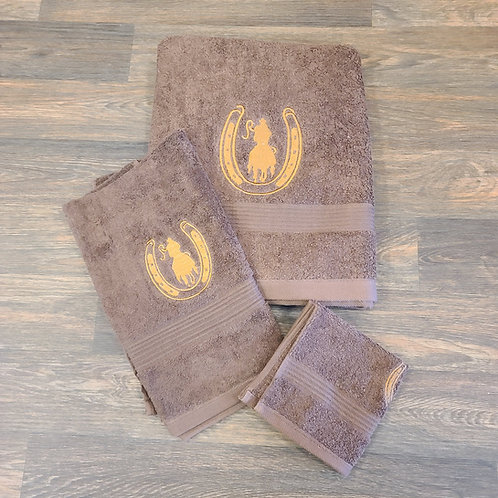 Western Moment's Towel Set - Chocolate Rider