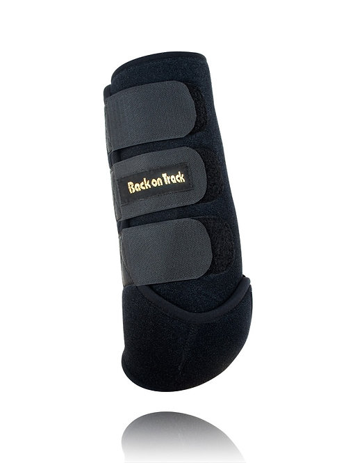 BOT Front Black Splint Boots -Large