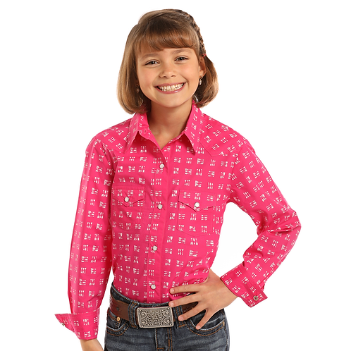 Panhandle Hot Pink Arrow Western Shirt