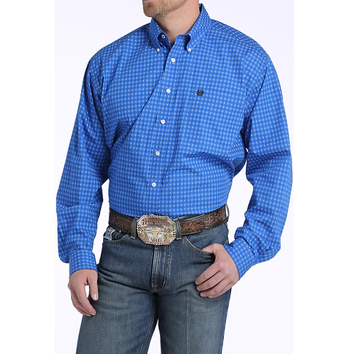 Cinch MTW1104594 Royal Blue Patterned Western Shirt