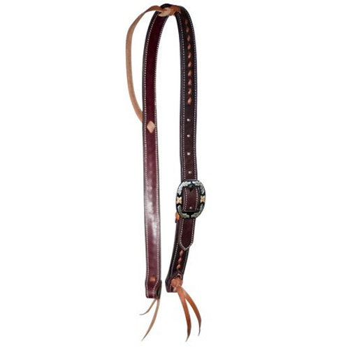 Wildfire Saddlery Chocolate Buckstitched Knot Ear Headstall
