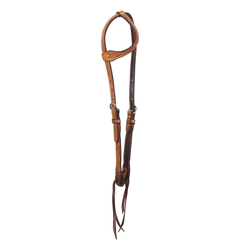 Cactus Saddlery Floral Tooled One Ear Headstall