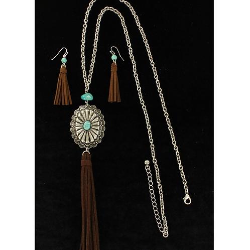 Blazin Roxx Turquoise Medallion Fringe Set