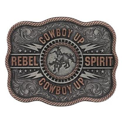 Montana Attitude Two Tone Rebel Spirit Buckle