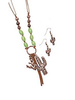 Blazin Roxx Copper Green Stone Cactus Set