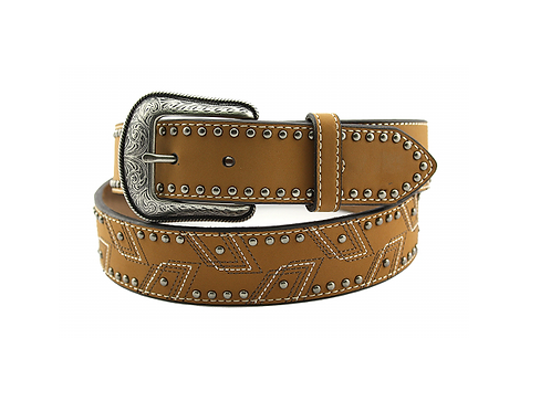 Hooey Tan Studded 1652BE1T Belt