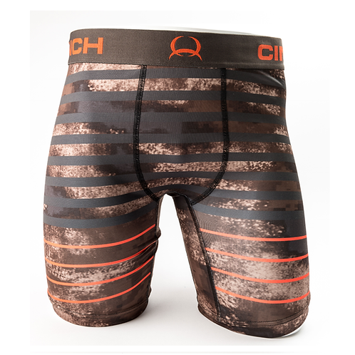 Cinch Brown Marble with Orange Boxers