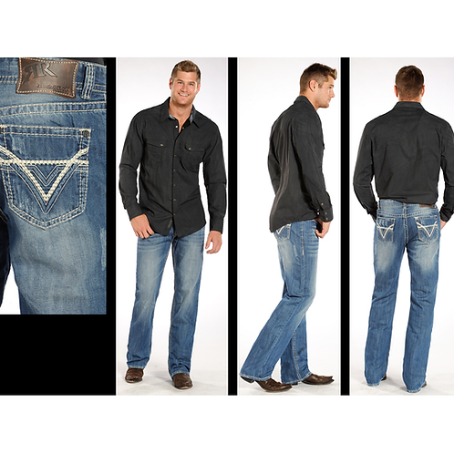 Rock & Roll Denim DBL Barrel Light Wash Jeans