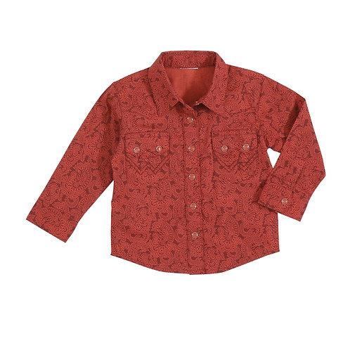 Wrangler Infant Burgundy & Red Western Shirt