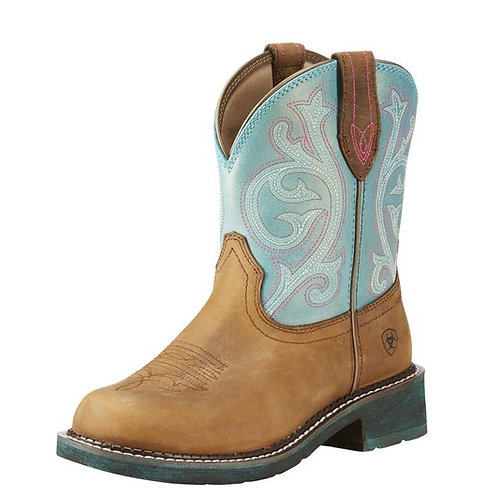 Ariat Brown & Shimmer Turquoise Fatbaby Boots