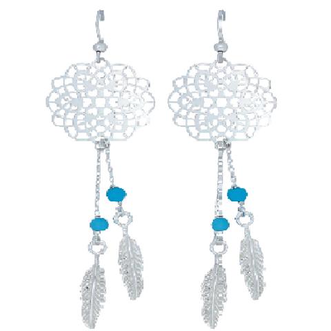 Montana Silversmith Turquoise Dream catcher Earrings