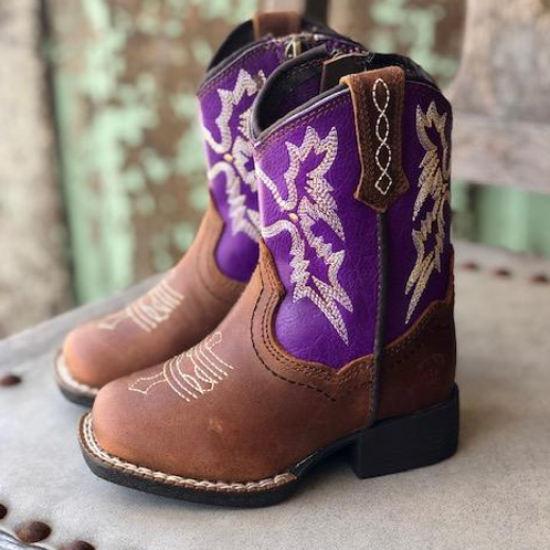 Ariat Lil' Stompers Toddler Boot - Tombstone Purple