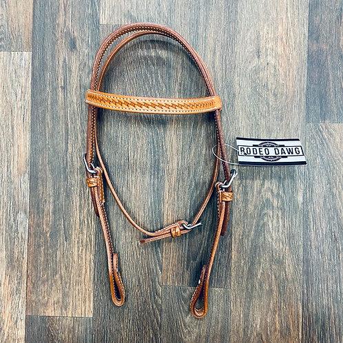 TN Basketweave Pony Browband
