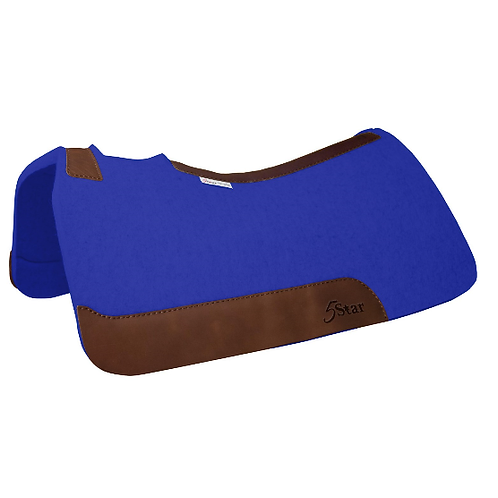 "5 Star 7/8"" Barrel Pad 30""x28"" - Royal Blue with Orro Russet Leather"
