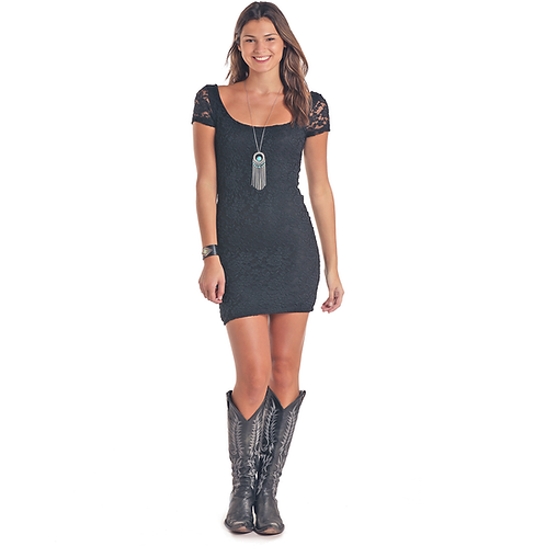 Ladies Panhandle Black Lace Dress