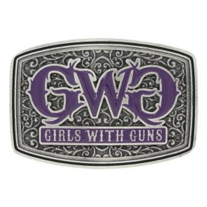 Montana Attitude GWG Antique Silver & Purple Buckle
