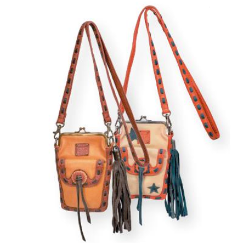 STS Ranchwear - Retro Pouch - Camel & Red