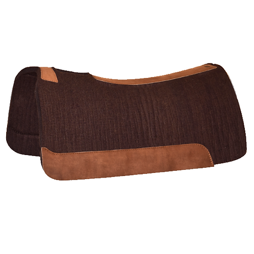 """5 Star 7/8"""" Roper Pad  32""""x30"""" - Chocolate with Brown Leathers"""