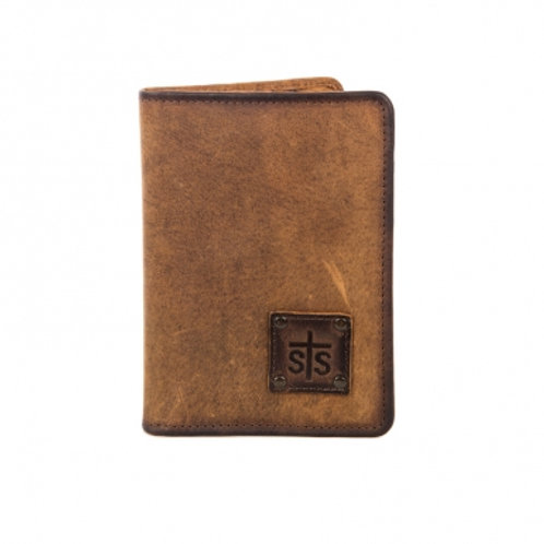 STS Ranchwear Brown Magnetic Wallet