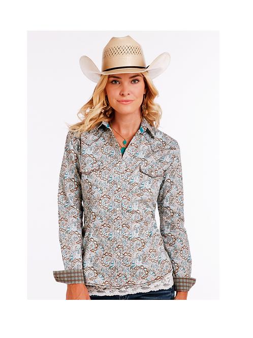 Panhandle Casalotti Vintage Print Western Shirt